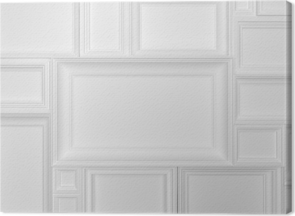 Cuadro en Lienzo Marcos blancos 3d • Pixers® - Vivimos para cambiar