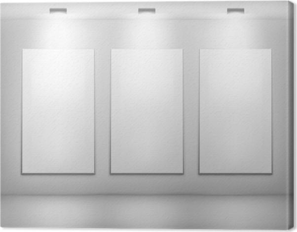 Cuadro en Lienzo Marcos blancos en galería de arte • Pixers ...