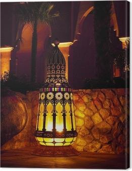 Cuadro en Lienzo Marroquí de la lámpara