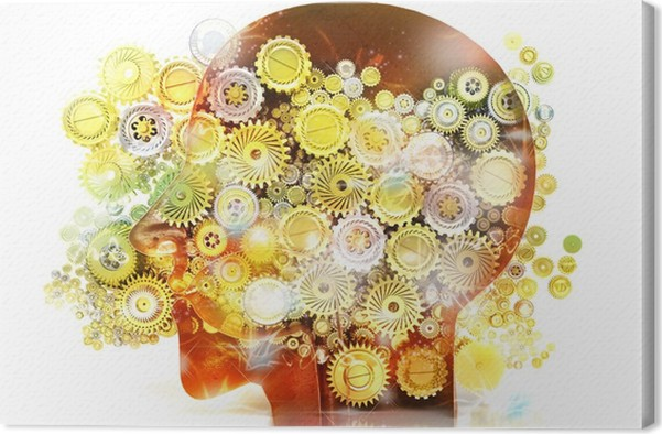 Cuadro en Lienzo Memoria, psicología, genio, ideas, creatividad ...