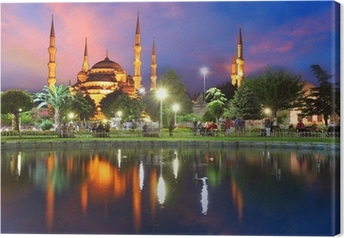 Cuadro en Lienzo Mezquita Azul en Estambul, Turquía