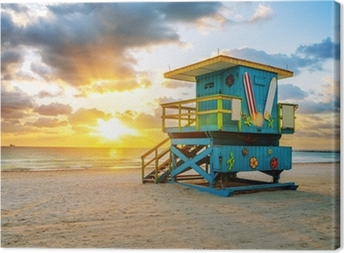 Cuadro en Lienzo Miami South Beach sunrise
