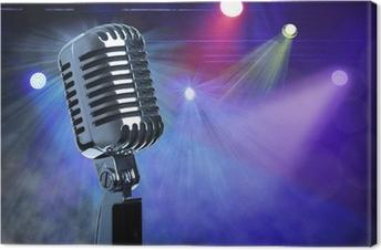 Cuadro en Lienzo Micrófono de la vendimia en el escenario