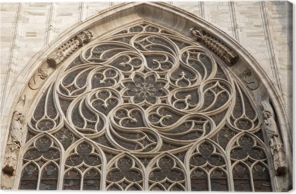 Cuadro en Lienzo Milán - rosetón gótico de la catedral del Duomo ...
