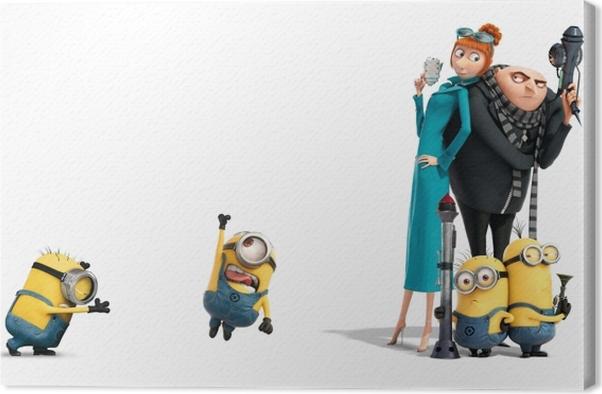 Cuadro en Lienzo Minions, Lucy & Gru - Criteo