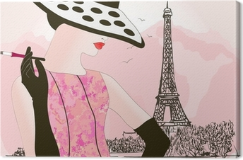 Cuadro en Lienzo Moda mujer en París