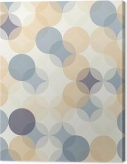 Cuadro en Lienzo Modernos del vector círculos patrón de colores sin fisuras geometría, el color de fondo abstracto geométrico, impresión del papel pintado, textura retro, diseño de moda del inconformista, __