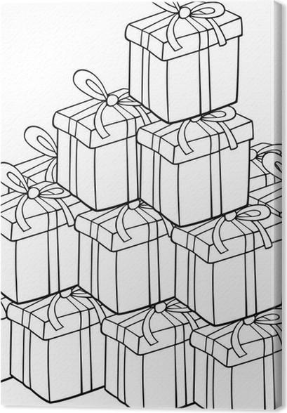 Cuadro en Lienzo Montón de regalos para colorear • Pixers® - Vivimos ...