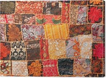 Cuadro en Lienzo Mosaico de alfombras de la India