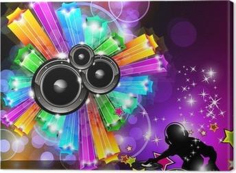 Cuadro en Lienzo Música del aviador del disco para bailar Eventos