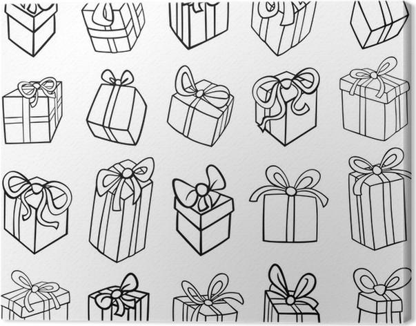 Cuadro en Lienzo Navidad o regalos de cumpleaños para colorear ...