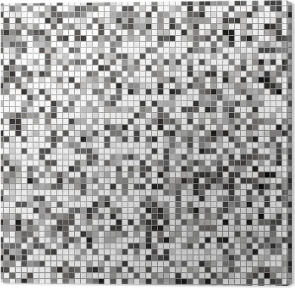 Cuadro en lienzo negro blanco y azulejos grises pixers for Azulejo a cuadros blanco y negro barato