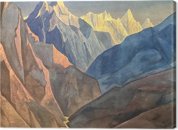 Cuadro en Lienzo Nikolái Roerich - Estudio de las montañas - Nicholas Roerich