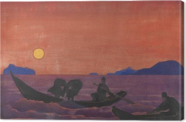 Cuadro en Lienzo Nikolái Roerich - Y seguimos pescando - Nicholas Roerich