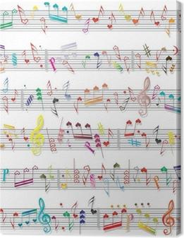Cuadro en Lienzo Nota musical sonido textura