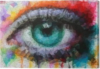 Cuadro en Lienzo Ojo hermoso en el estilo geométrico abstracto geométrico