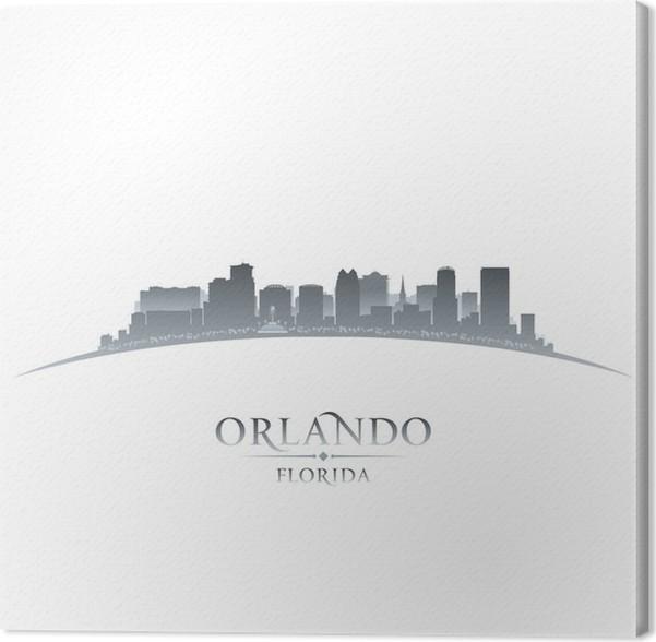 Cuadro en Lienzo Orlando Florida silueta de la ciudad de fondo ...