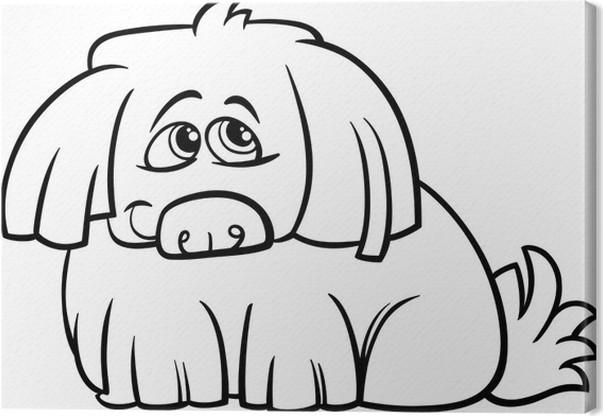 Cuadro en Lienzo Página para colorear de dibujos animados lindo ...