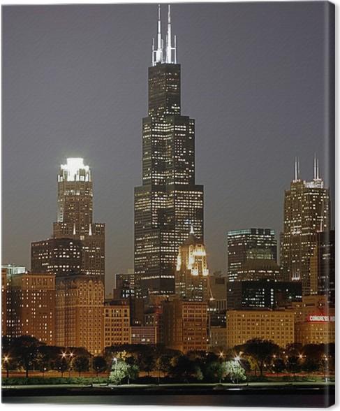 Cuadro en Lienzo Paisaje urbano de Chicago y la Torre Sears • Pixers ...