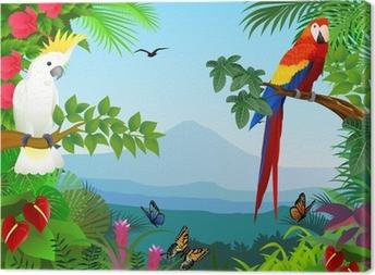 Cuadro en Lienzo Pájaro en el hermoso bosque