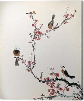 Cuadro en Lienzo Pájaros pintura