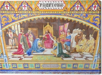 Cuadro en Lienzo Pamplona tema en la Plaza de España en Sevilla, España