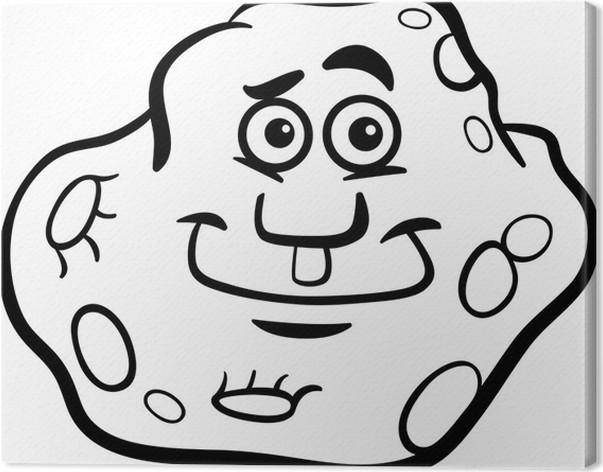 Cuadro en Lienzo Para colorear de dibujos animados de asteroides ...