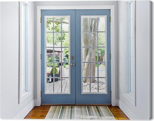 Cuadro en Lienzo Patio francés puerta de vidrio • Pixers® - Vivimos ...