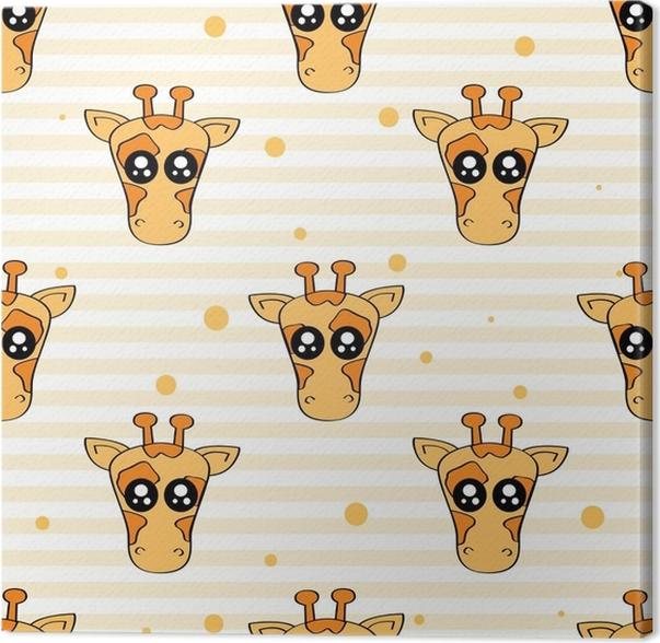 Cuadro en Lienzo Patrón de niños lindos para niñas y niños. jirafa ...
