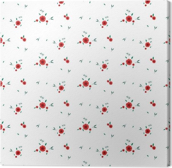 Cuadro en Lienzo Patrón floral sin fisuras. fondo en pequeñas flores ...