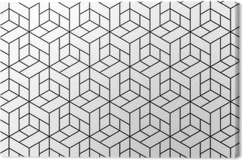 Cuadro en Lienzo Patrón geométrico transparente con cubos.