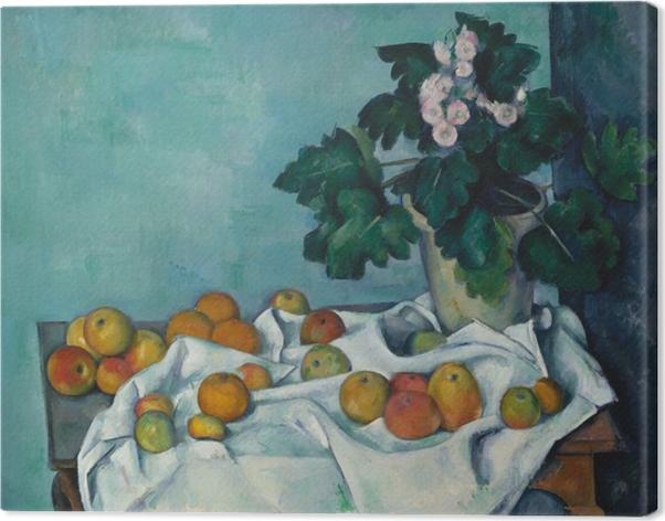 Cuadro en Lienzo Paul Cézanne - Fruta en un paño - Reproducciones