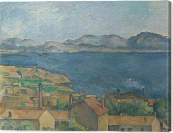 Cuadro en Lienzo Paul Cézanne - L'Estaque, vista desde la bahía de Marsella - Reproducciones