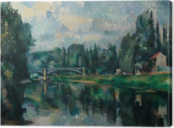 Cuadro en Lienzo Paul Cézanne - Los bancos del Marne en Creteil - Reproducciones