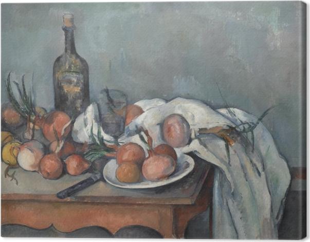 Cuadro en Lienzo Paul Cézanne - Todavía vida con las cebollas - Reproducciones
