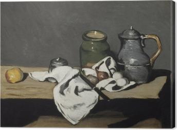 Cuadro en Lienzo Paul Cézanne - Todavía vida con una caldera
