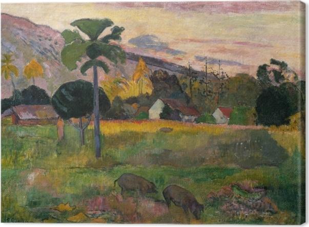 Cuadro en Lienzo Paul Gauguin - Haere mai (Ven) - Reproducciones
