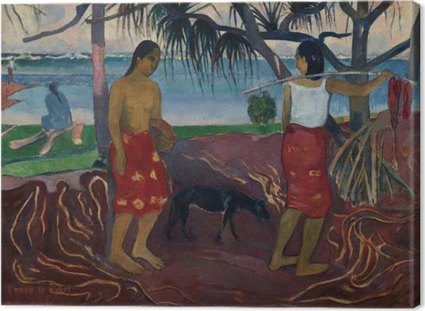 Cuadro en Lienzo Paul Gauguin - I Raro Te Oviri (Bajo el Pandanus) - Reproducciones