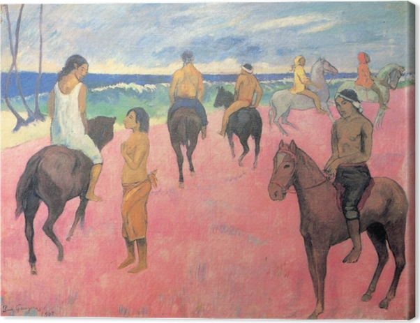 Cuadro en Lienzo Paul Gauguin - Jinetes en la playa - Reproducciones