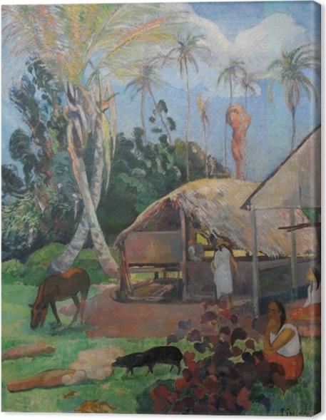 Cuadro en Lienzo Paul Gauguin - Los cerdos negros - Reproducciones