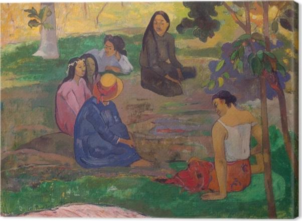 Cuadro en Lienzo Paul Gauguin - Los chismosos - Reproducciones