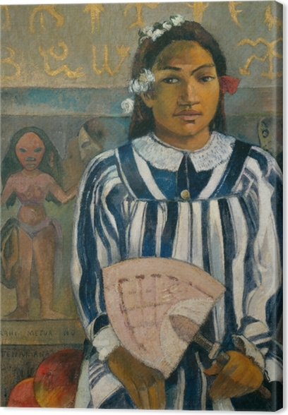 Cuadro en Lienzo Paul Gauguin - Merahi metua sin Tehamana (Tehamana tiene muchos padres) - Reproducciones