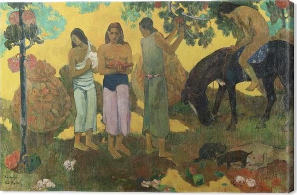 Cuadro en Lienzo Paul Gauguin - Rupe Rupe (La cosecha de la fruta) - Reproducciones
