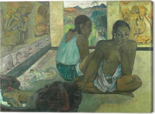 Cuadro en Lienzo Paul Gauguin - Te rerio (El sueño) - Reproducciones
