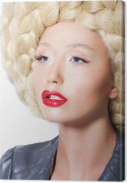 Cuadro en Lienzo Peinado extravagante. Mujer con el arte creativo de ...