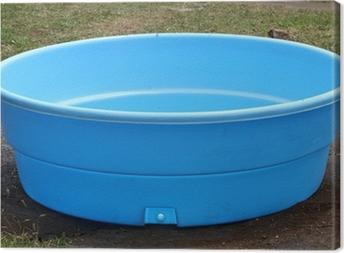 Cuadro en Lienzo Pequeña piscina de plástico
