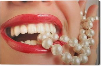 Cuadro en Lienzo Perlas blancas