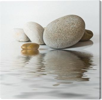 cuadro en lienzo piedras zen en el agua - Piedras Zen