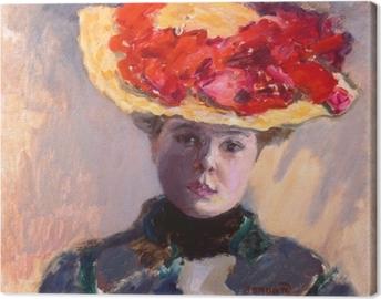 Cuadro en Lienzo Pierre Bonnard - La chica con el sombrero de paja