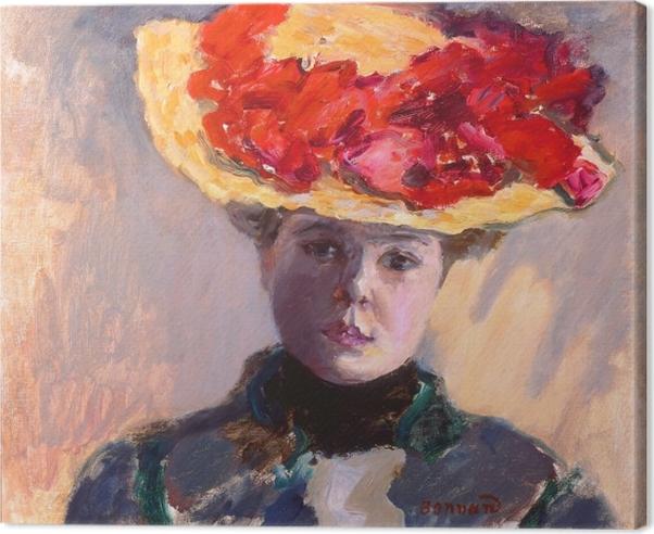 Cuadro en Lienzo Pierre Bonnard - La chica con el sombrero de paja - Reproductions